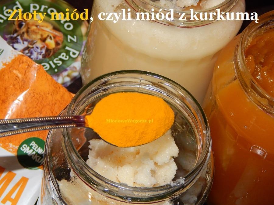 Przygotowanie miodu z kurkumą