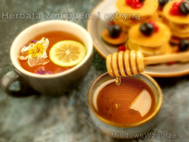 herbata miód i cytryna