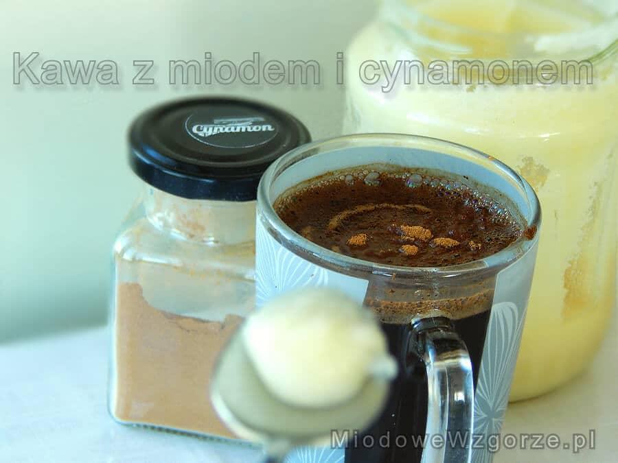 kawa miód i cynamon