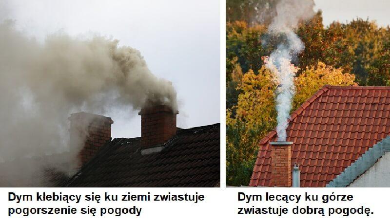 dym zwiastuje pogodę