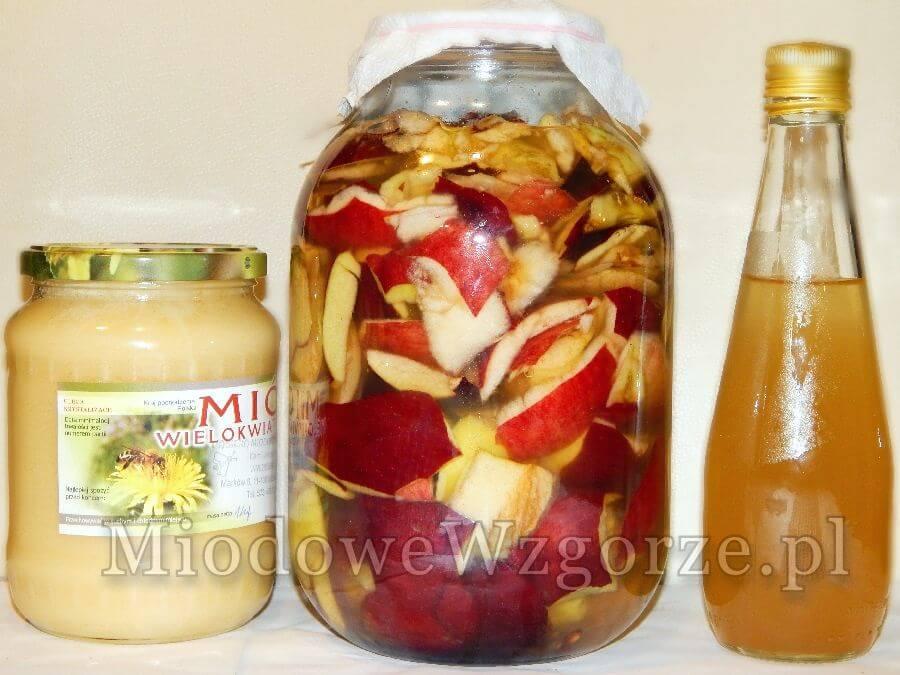 staropolski ocet jabłkowy z miodem przepis babci